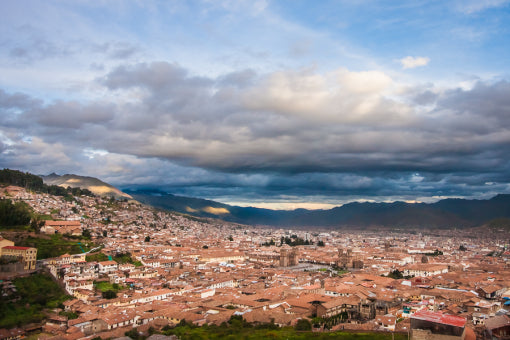 Looking down on Cusco from one of the many nearby hills