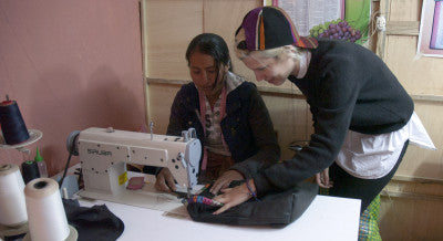 Sewing the prototypes with new shapes and sizes has been a fun adventure for the team in Chinchero