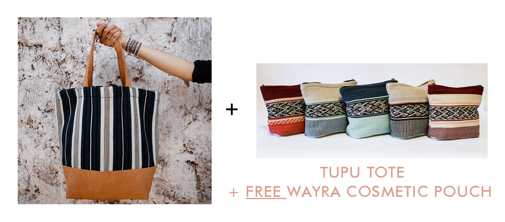 tupu wool tote and free gift