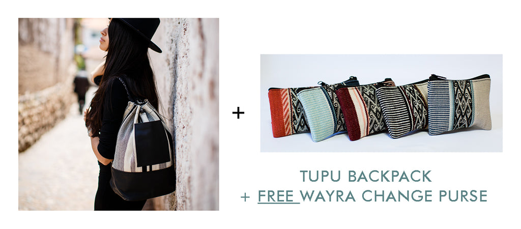tupu wool backpack and free gift