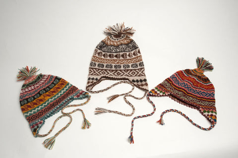 Andean Chullos & Earflap hats: traditional Peru beanies