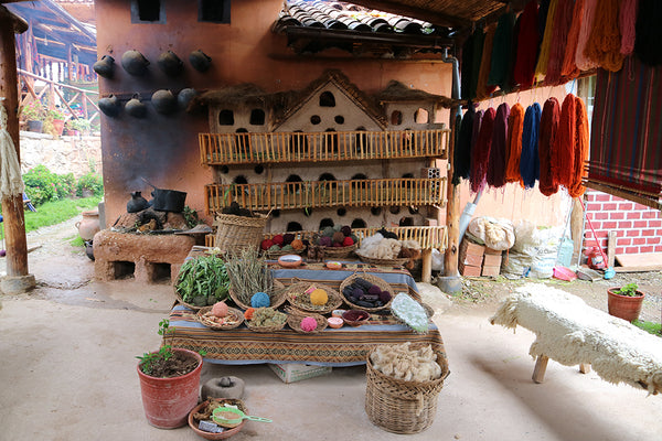 yarn, natural dyes, natural dyes in peru