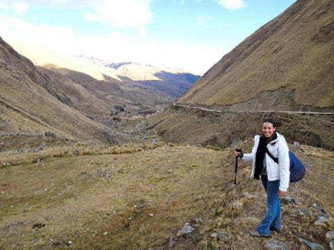 Me hiking to the remote Andean village of Chaullacocha