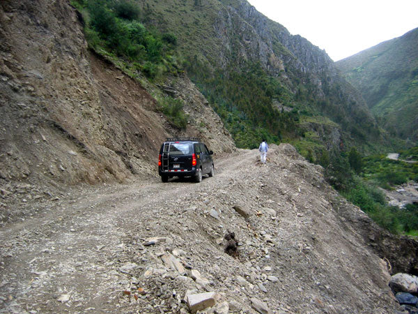 A road that was impassable just three weeks ago can now easily be travelled by car