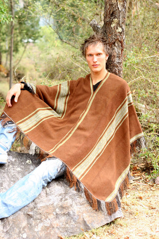 Henrik models a poncho specially designed for those who ride Peruvian Paso horses in shows and require a special poncho to do so.
