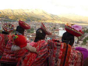 Admiring Cusco. (photo by C.Ellwand)
