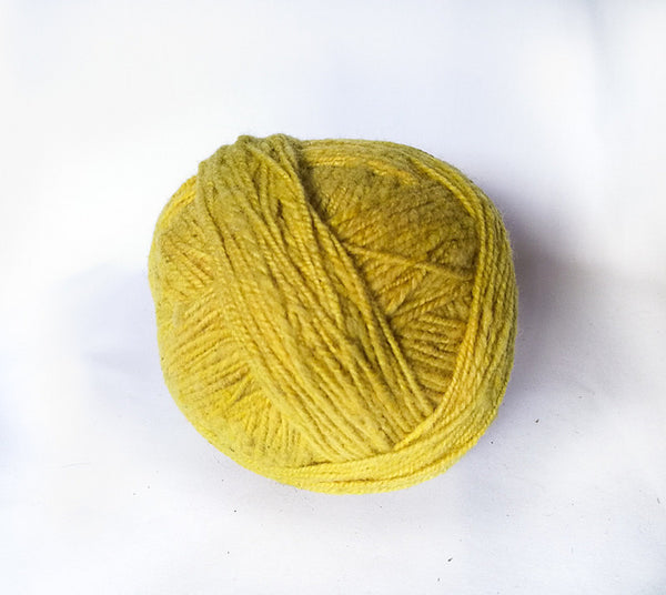 Handspun Wool Yarn in Mustard