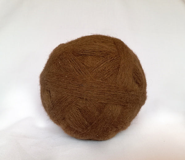Handspun Alpaca Yarn in Chocolate