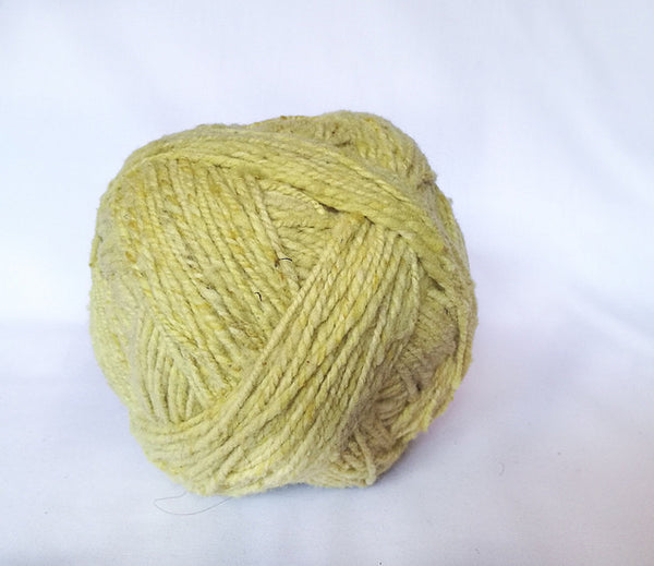 Handspun Wool Yarn in Lemon