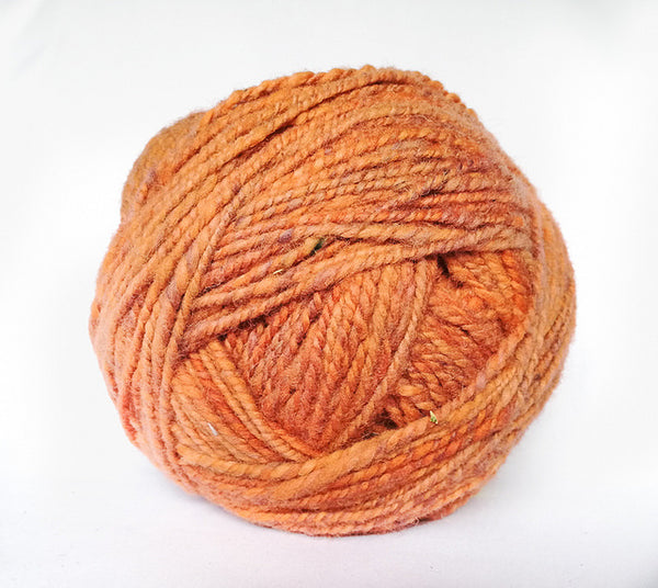 Handspun Wool Yarn in Creamsicle
