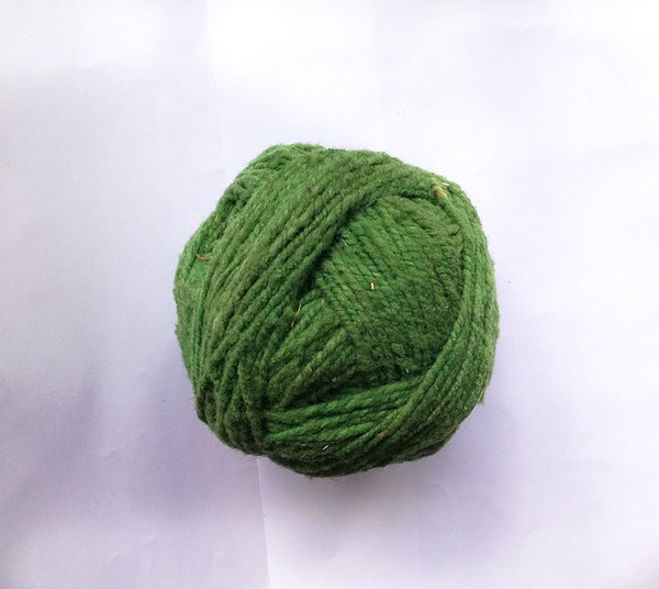 Handspun Wool Yarn in Lime