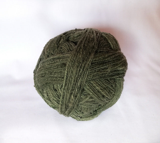 Handspun Wool Yarn in Moss