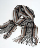 Totora Master Weaver 100% Alpaca Scarf- Onyx and Charcoal