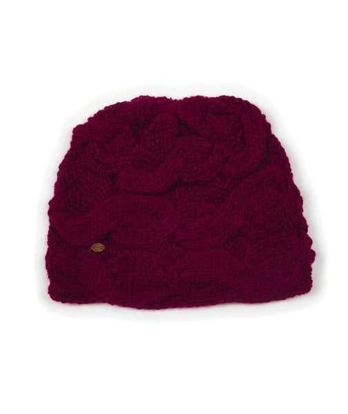 Aces Winter Alpaca Hat (Syrah), Wine Colored Soft Alpaca Winter Hat