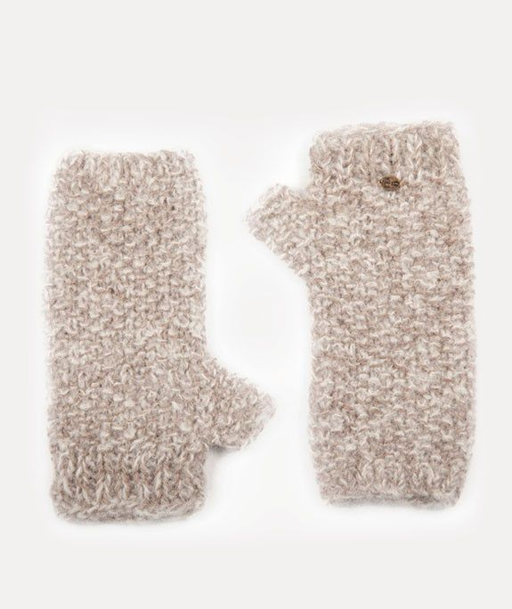 Aire Alpaca Fingerless Gloves (Grey)