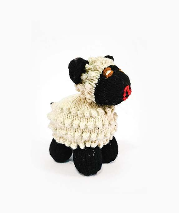 White and Black Stuffed Sheep Toy