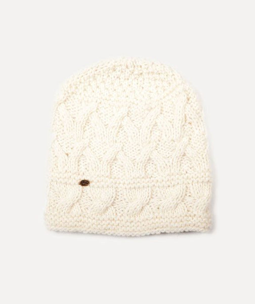 Bone White Alpaca Winter Beanie