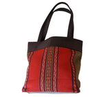Peruvian Wool and Leather Tote