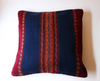 New! Handwoven Indigo Wool Pillow