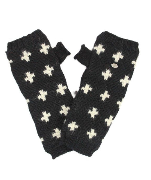 Black and White Alpaca Cruz Arm Warmers