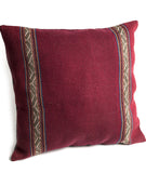 Boho 100% Wool Cushion Cover- Red, Tribal Boho Pillow Cover