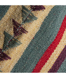 Handwoven Wool Floor Rug – Durable Wool Floor Rug, Handmade in Peru, Fair Trade. Turquoise, MultiColor Floor Rug,  Awesome quality wool Floor Rug. Tribal look.