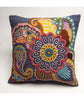 Psychedelic Boho Throw Pillow,  hand embroidered colorful throw pillow,  Throw Pillow Cushion Cover,  Boho Pillow Case,  flamboyant
