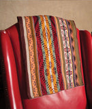 Warm Colors Daniel Master Weaver Peruvian Manta, Peruvian decorative rug,  traditional lliqlla, artisan rug