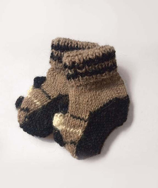 Alpaca Knit Baby Booties