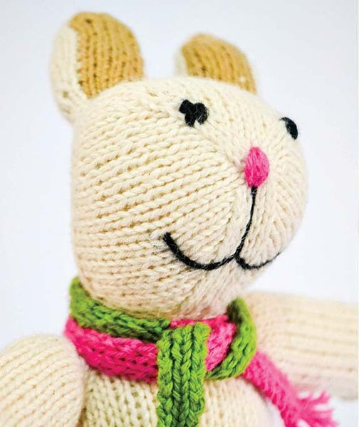 Jorge Soft Stuffed Handknit Fair Trade Natural Fiber Bunny Rabbit