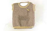 Alpaca Toddler Vest, Yellow & Oatmeal, Organic Kids Wear,  Handmade Childrens Vest, Eco Friendly Kids Wear