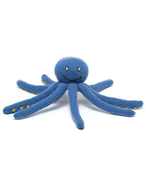 Octavio Hand Knit Wool Octopus Toy