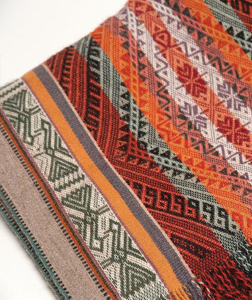 Master Weaver Table Runner- Multicolor, Inca Design, Warm Colors