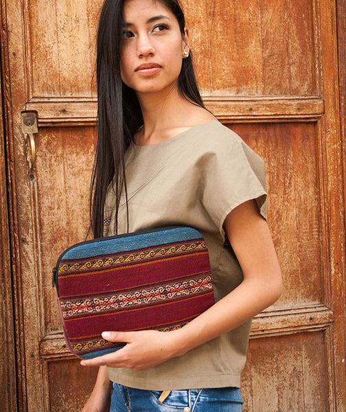 Peruvian textile laptop bag, Laptop Protector, Boho Laptop Case