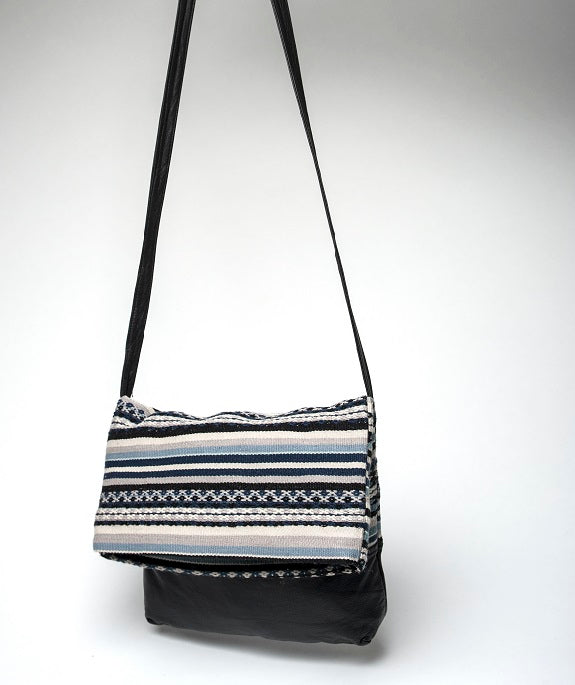 Crossbody Wool Bag - Blues