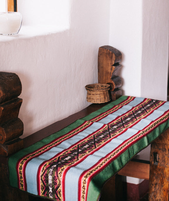 peruvian wool table runner handmade