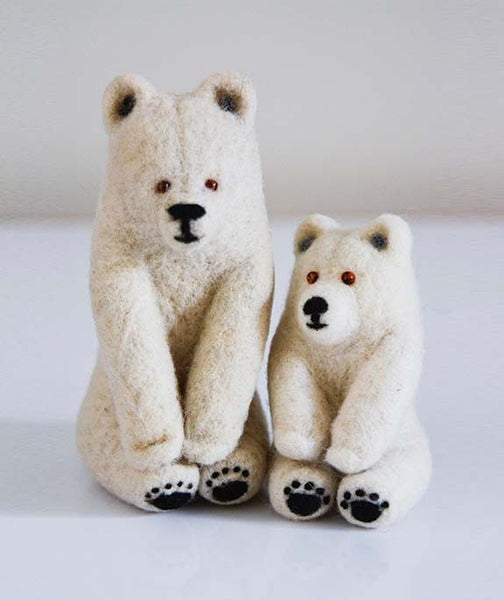Polar Bear Felt Toys- Mother and Cub