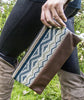 leather clutch purse, tribal clutch purse, peru clutch purse, handbag, purse, small handbag