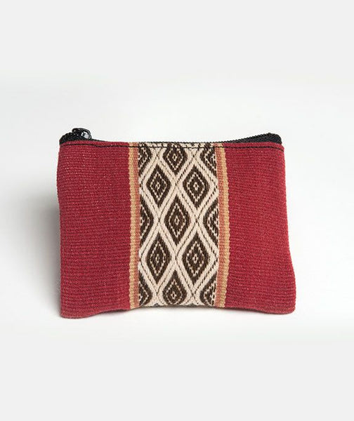 Qhapag Handwoven Textile Change Purse -Crimson, Coin Purse, Tribal Coin Purse, Coin Pouch