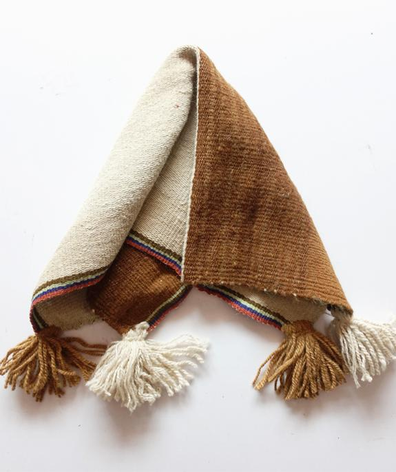 traditional peruvian natural alpaca table runner