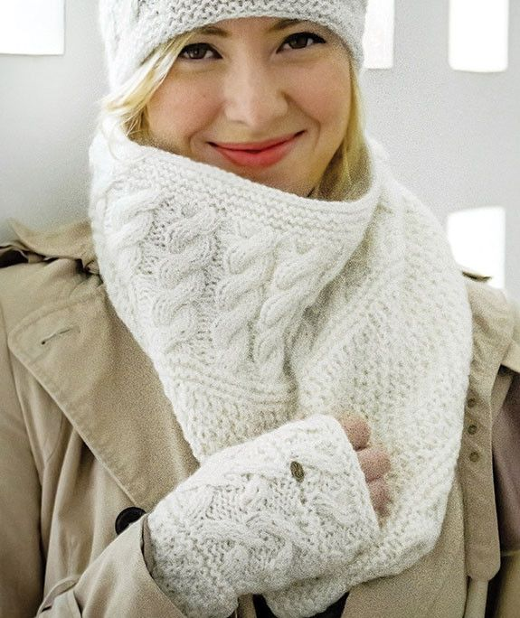 Bone White Alpaca Neck Warmer