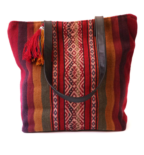 Peruvian Sallac Handwoven Wool Tote