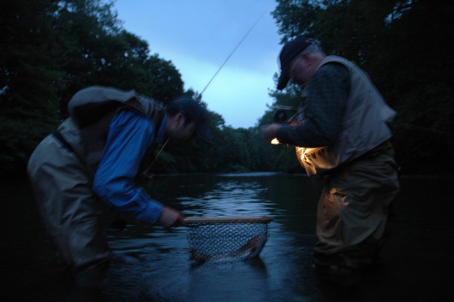 Photo of the day night fish spinoza rod company for Trout fishing at night