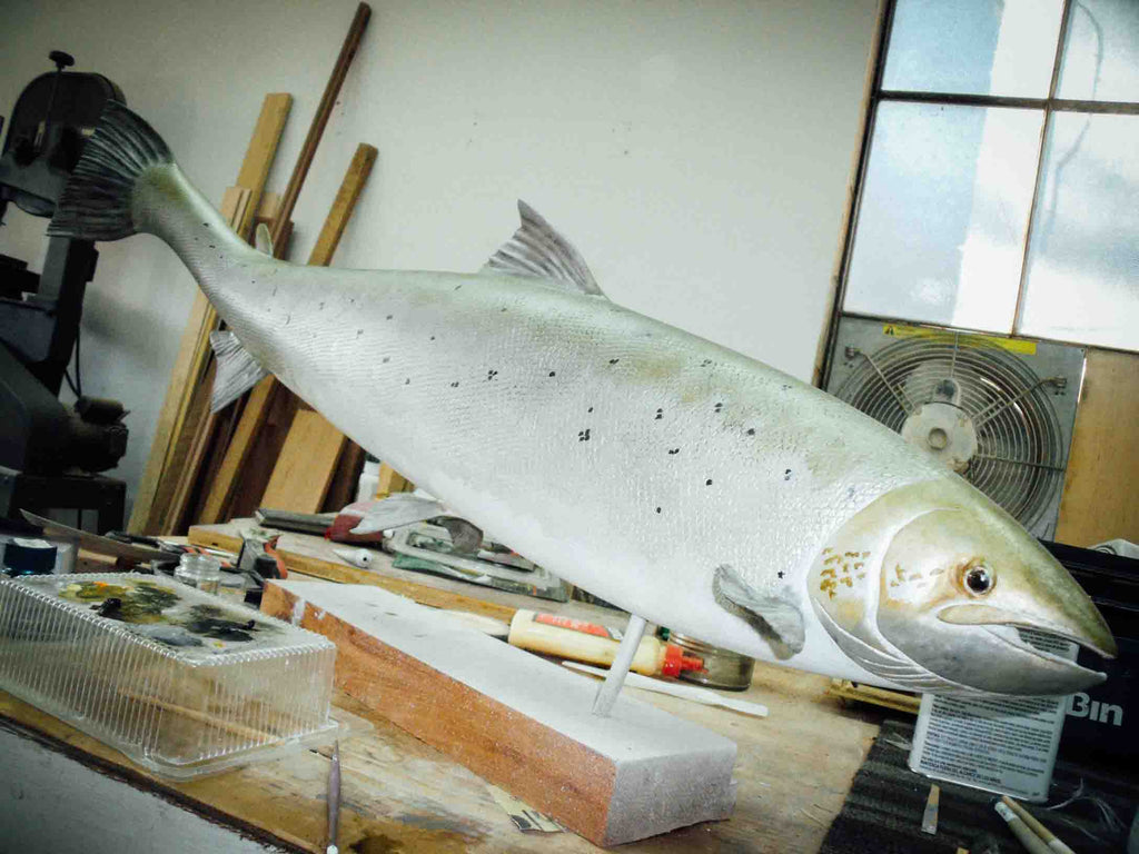 Atlantic Salmon carving by Mark Bennett