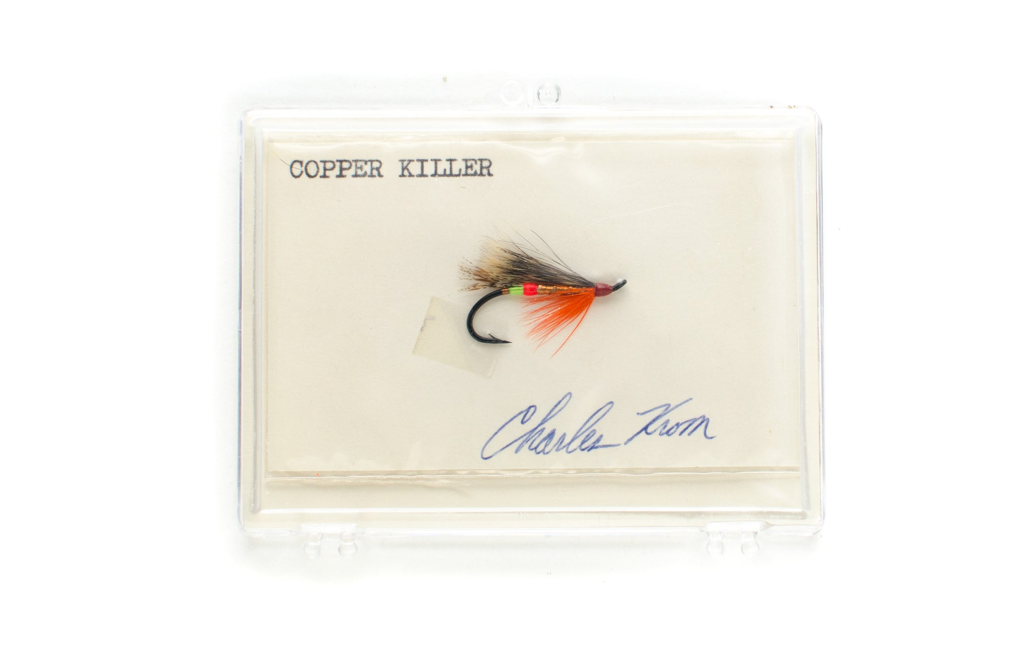 Copper Killer Salmon Fly by Charles Krom