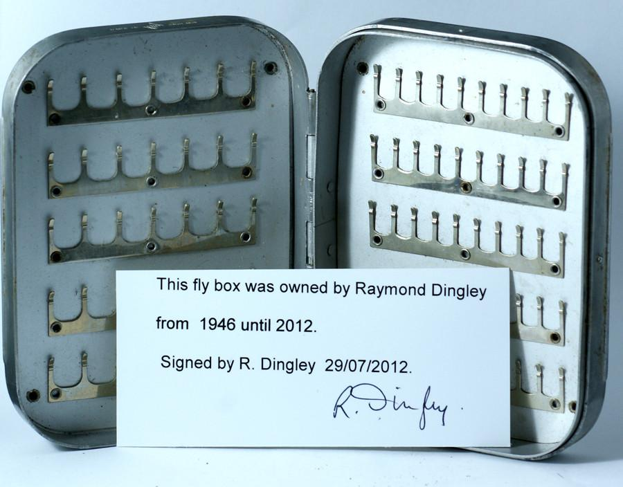 Raymond Dingley's personal Wheatley fly box with original flies