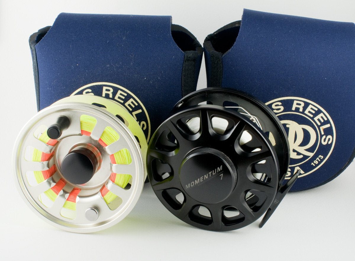 Ross Momentum 7 fly reel and spare spool