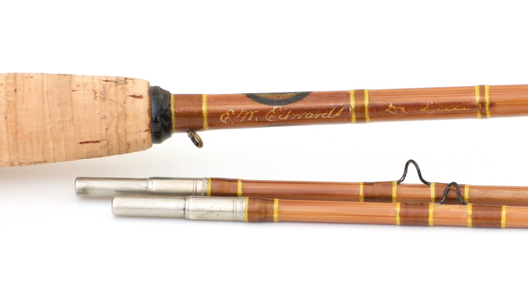 Edwards, E.W. -- Extremely Scarce Signed 7' De Luxe Bamboo Rod (A&I)