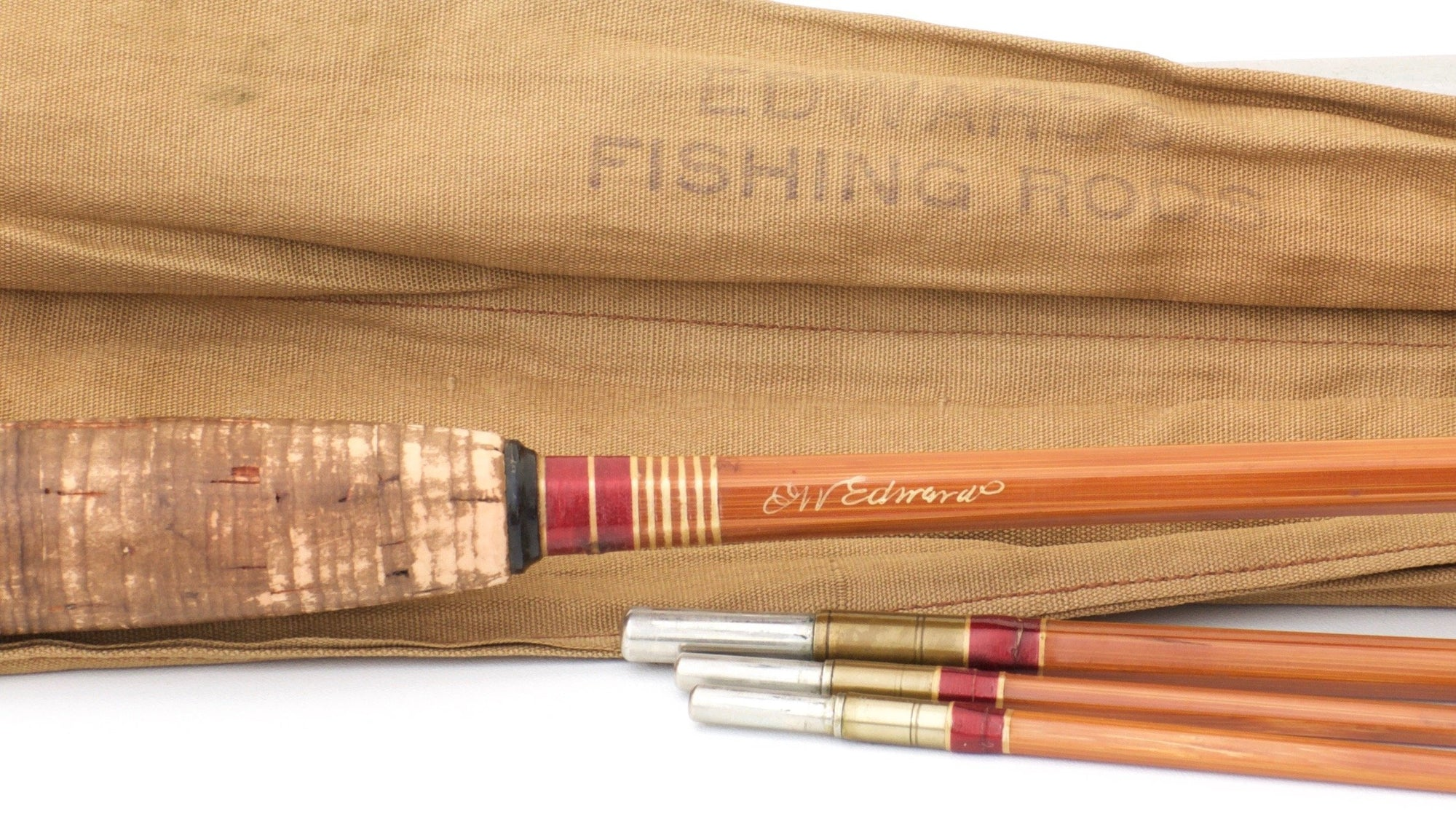 Edwards, E.W. -- Extremely Scarce Signed 8'6 Bamboo Rod