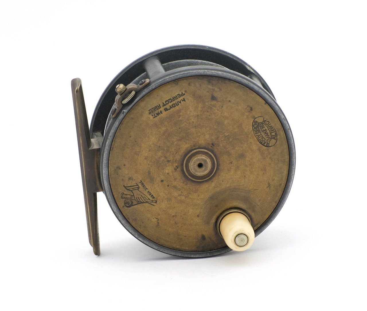 "Hardy Brass Face Perfect 3 3/4"" Fly Reel"